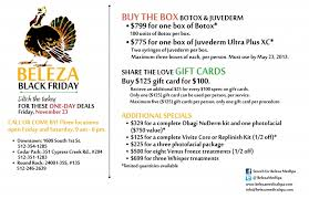 black friday deals on gift cards black friday beleza spa deals beleza medspa