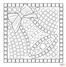 thanksgiving mosaic platter coloring page free printable