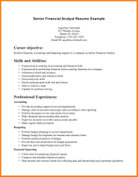 Financial Analyst Resume Examples by Financial Analyst Resume Summary Free Resume Example And Writing