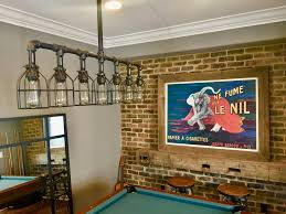 rustic pool table lights rustic industrial edison bulb iron pipe pool table light gameroom