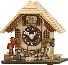 Chalet Style Cuckoo Clock Kuckulino Quartz Movement Chalet Style 13cm By
