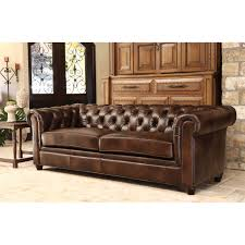 vintage leather chesterfield sofa furniture exquisite comfort with leather tufted sofa