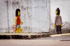 banksy lego style crime mural goes viral in malaysia art books photo courtesy of twitter malaysian gags