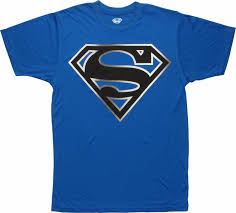 superman black white logo polyester shirt