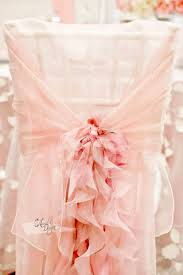 ruffled chair covers blush pink ruffled chiffon chair cover with curly sash arcadia