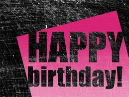 birthday card scratched background pink black half fold