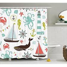 Shower Curtain Nautical Amazon Com Interestprint Anchor Shower Curtain Boat Anchor