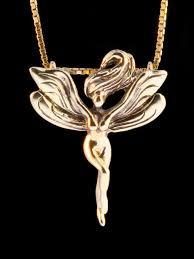 fairy pendant necklace images Gold fairy pendant 14k gold marty magic store jpg