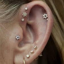 ear piercing earrings best 25 different ear piercings ideas on ear