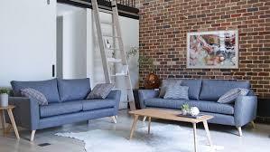 scandi fabric sofa domayne