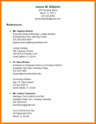 Resume Reference List Format References On Resume Template Marvellous Resume References