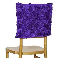 Wholesale Chair Covers 6 Pcs Chair Covers Square Top Caps With Ribbon Roses Party Wedding