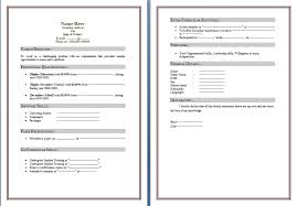 Free Templates Resume Free Resumes Templates For Microsoft Word Resume Template And