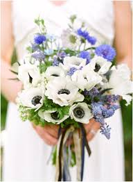 wedding flowers blue and white blue and white summer wedding color palette and bridal bouquet