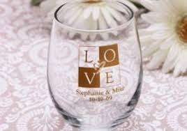 wedding favor glasses favors stemless wine glasses wedding favors canada stemless