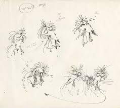 original tim burton hand drawn ink sketches for vincent