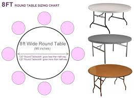 8 ft banquet table dimensions what size tablecloth for 8ft round table tableclothsforless com
