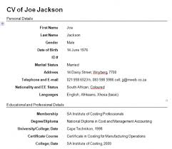 how to create a cv template 28 images simple cv template in