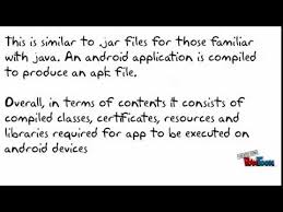 what is a apk file what is an apk file