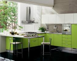 kitchen modern green kitchen cabinets white bar stools hanging