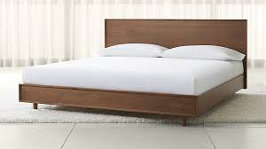 King Wooden Bed Frame Tate King Wood Bed In Beds Headboards Reviews Crate And Barrel