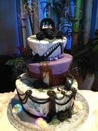 geek art gallery sweets haunted mansion wedding cake