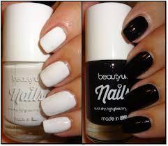 wendy u0027s delights beauty uk nail polish white out u0026 black out