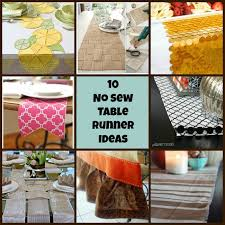 diy table runner ideas 10 no sew table runner ideas diy for life