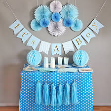 babyshower decorations baby shower decorations for boy it s a boy banner tissue paper