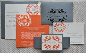 wedding invitations red and silver orange and silver wedding invitations popular wedding invitation