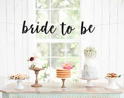 bridal decorations to be banner etsy