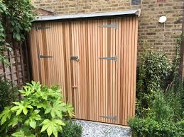 cedar batten clad vertical bike shed bike tool shed ideas