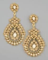 gold chandelier earrings gabrielle earring indian earrings amrita singh and fashion