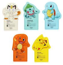 amazon com tonymoly pokemon sheet mask pack 5 sheets beauty