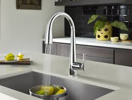 Touch Free Kitchen Faucets by Pfister Gt529 Elc Lita Single Handle Pull Down Faucet With React