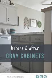 small kitchen grey cabinets two tone gray cabinets 8th avenue kitchen mesheddesigns