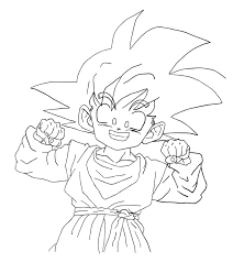 goten coloring pages dragon ball anime coloring pages kids