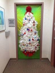 Christmas Door Decorating Contest Ideas Love The Lights Behind The Window Christmas Door Ideas