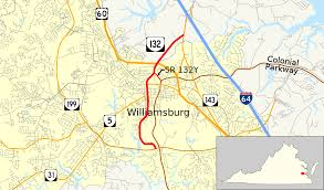 Williamsburg Virginia Map by Virginia State Route 132 Wikipedia