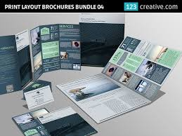 Brochures And Business Cards Print Layout Brochures Bundle Flyer And Business Card By