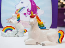 novelty ceramic unicorn moneybox and salt u0026 pepper set novelty