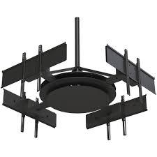 peerless av multi display ceiling mount with four dst975 4 b u0026h