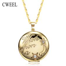 box lockets cweel vintage lockets necklaces for women gold color fancy