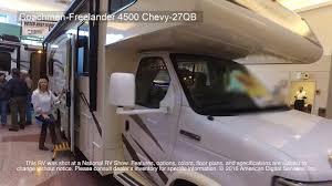 coachmen class c motorhome floor plans coachmen freelander 4500 chevy 27qb youtube
