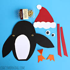 moveable penguin craft for crafty morning
