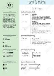 art director resume sample creative resume template minimalistic green mint and white style creative resume template minimalistic green mint and white style cv light infographic elements