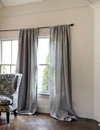 Blue Burlap Curtains Interesting Gray Burlap Curtains Inspiration With Best 25 Gray