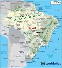 map of brazil brazil large color map