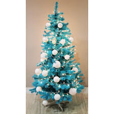 homegear 6ft artificial turquoise tree decoration