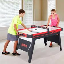 air hockey table reviews espn 60 quot air powered hockey table justdealsstore com